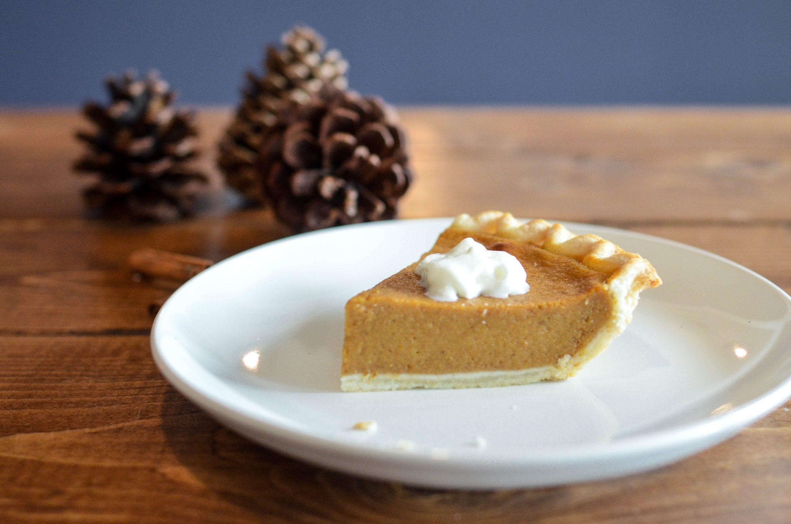 Pumpkin pie for dessert.