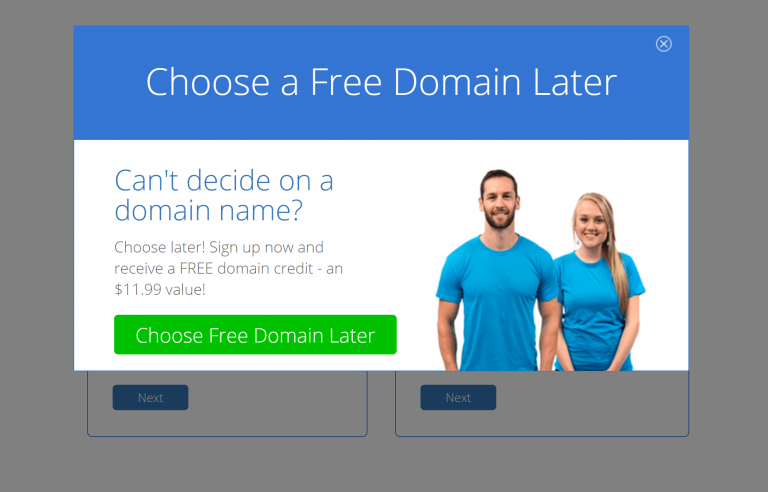 Set-up your domain name now or later.